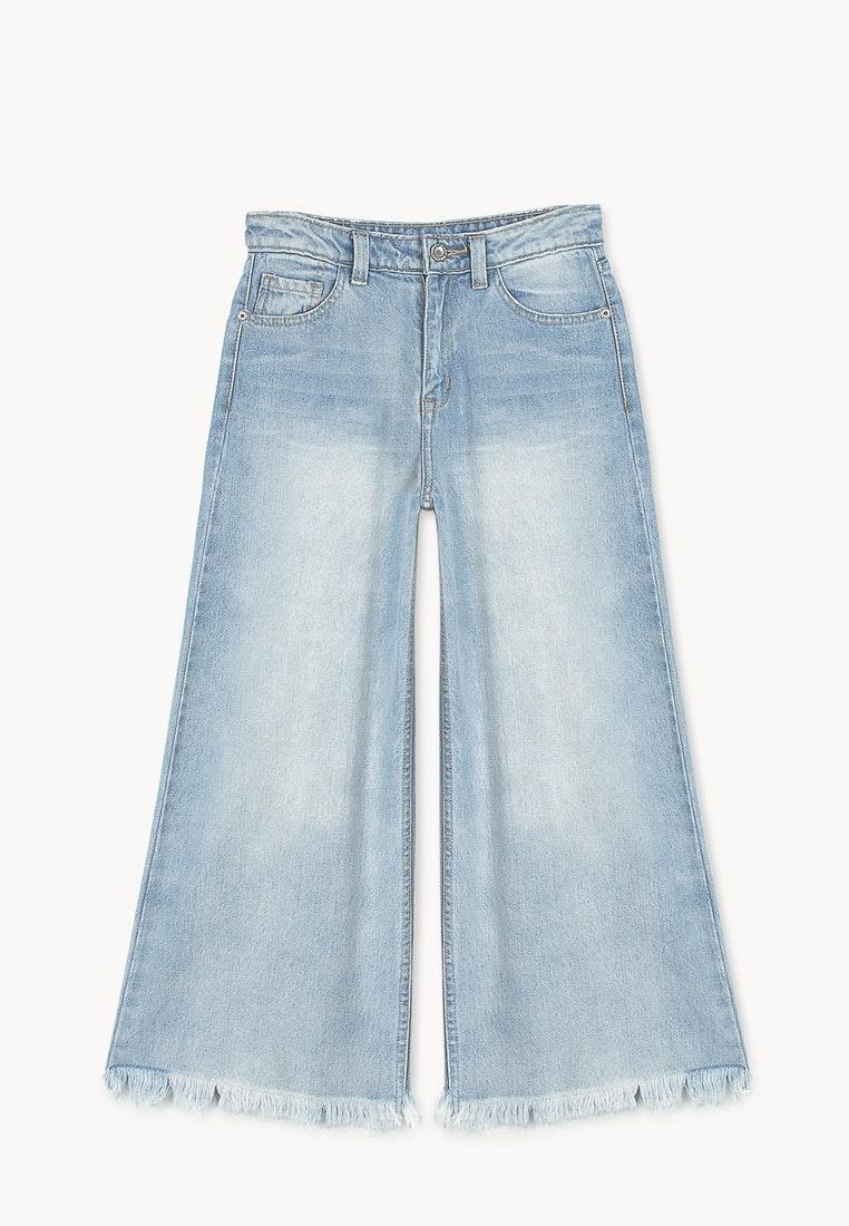 Jeans Light Denim Cropped Blue Culotte Pomelo zqa71wtt