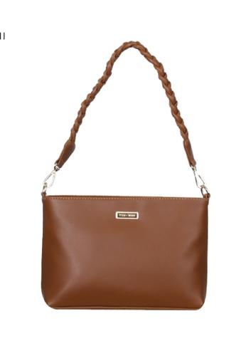 Verchini brown Verchini Twist Top Handle Sing Bag 12B22AC9CA389BGS_1