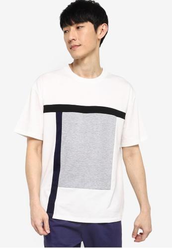ZALORA BASICS multi Multi Blocked Oversized T-Shirt 4226EAABE758AAGS_1