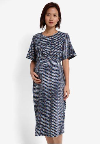JoJo Maman Bébé multi Maternity & Nursing Kimono Dress 074F4AA082CE38GS_1