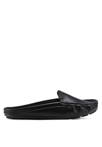Bata black Slide On Flats 1B1ABSH408AB14GS_1