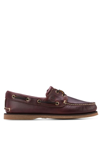 Timberland brown Men's 2-Eye Classic Boat Shoes TI063SH50QABMY_1