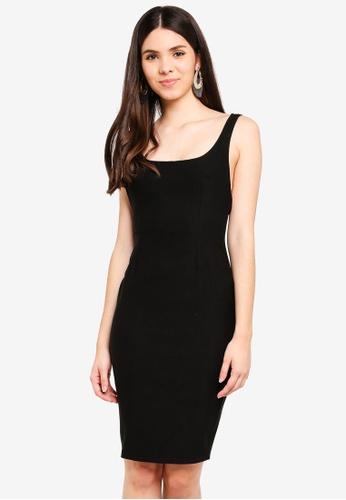 Vesper black Vesper Danni Midi Dress With Back Straps 51E6EAA2585A8BGS_1