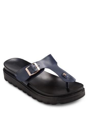 扣環夾腳厚底涼鞋, 女鞋,esprit服飾 涼鞋
