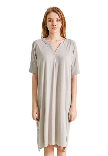 THE LOUNGE EDIT grey Diadana Sleepwear Dress F71A0AA326F818GS_1