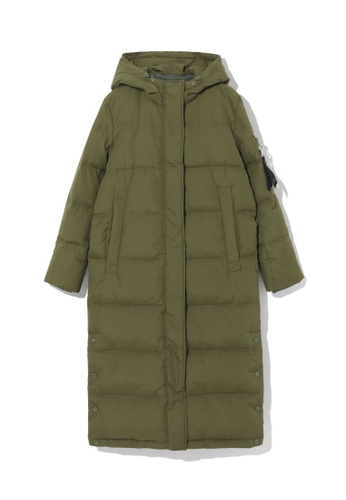 LOS ANGELES PROJECT -FASHION green Long down coat. 1A6F5AA8085FC7GS_1