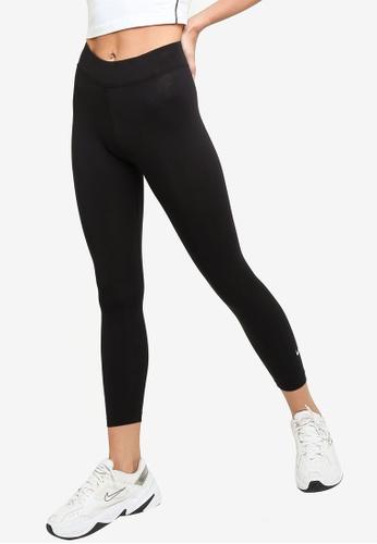 Nike black and grey Essential Mid-Rise 7/8 Leggings 652BFAA484FE51GS_1