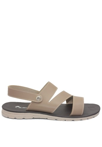 Dr. Kevin brown Dr. Kevin Men leather Sandals 9613 - Brown 85231SH09D251CGS_1