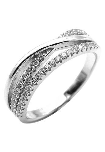 Elfi silver Elfi 925 Sterling Silver Engagement Wedding Fashion Ladies Ring P72 10992ACA455F22GS_1