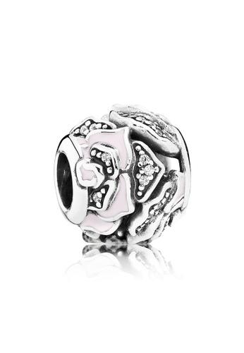 Pandora silver Pandora Pink Delicate Rose Charm 6A95CACBD671D8GS_1