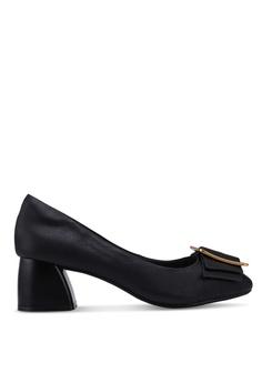 0abea4c9bbd2 prettyFIT black Bows Kitten Block Heels BAA7DSH3E3A53BGS 1