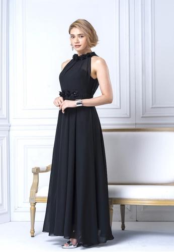 2e38625f928 Buy Evening by Karen Liu Halter Neck Flower Petal Chiffon Maxi Dress ...