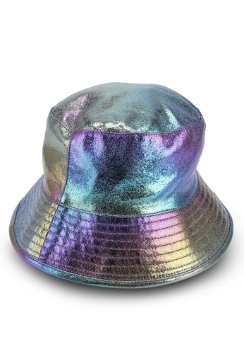 ae5665fc792 TOPSHOP purple and multi Iridecent Bucket Hat 3A001ACCCC77BAGS 1