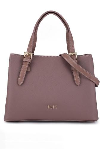 ELLE purple Iris Medium Carry Bag BD9C7AC5EFA8FAGS_1