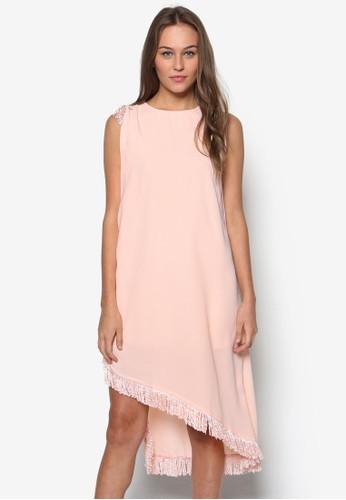 流蘇飾無袖esprit品牌介绍連身裙, 服飾, 洋裝