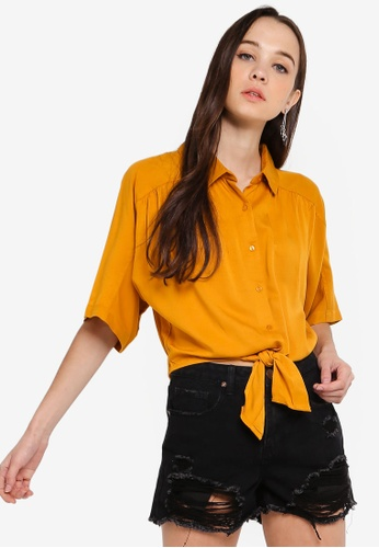 Cotton On gold Cute Resort Shirt 60C50AAAD313C5GS_1