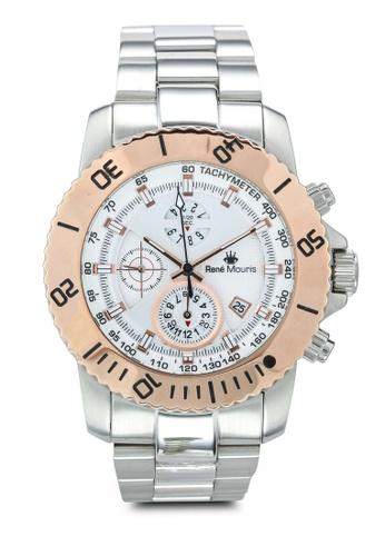 René Mouris silver L.I.F.L - 45.5mm Quartz Chrono Watch 4A569AC6AA5410GS_1