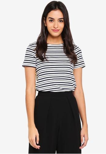Dorothy Perkins navy Navy Stripe T-Shirt 359ACAAD478254GS_1
