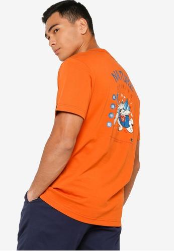 361° orange Cross Training Short Sleeve T-Shirt AE003AA828358CGS_1
