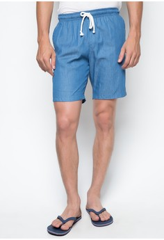 RE14 Men's Tailored Shorts in Denim Blue