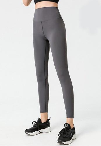B-Code grey ZYG3040-Lady Quick Drying Running Fitness Yoga Sports Leggings -Grey 342A0AA1F192F0GS_1