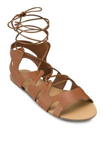 Marigold 羅馬繫帶涼鞋esprit bag, 女鞋, 涼鞋