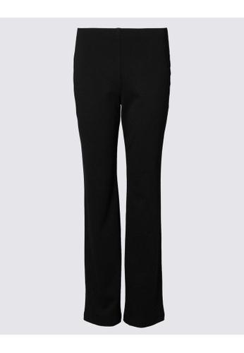 MARKS & SPENCER black M&S Ponte Straight Leg Trousers DF68EAAE8A7221GS_1