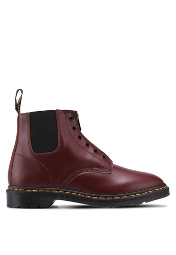 Dr. Martens red Core Fusion 101 Gusset 6 Eye Boots DR086SH0SX6JMY_1