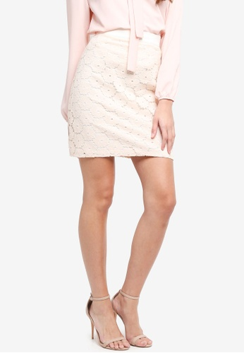 Vesper white Vesper Laurie Crochet Lace Skirt 983B9AA8F35A49GS_1