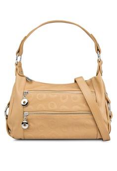 Double Zips Shoulder Bag