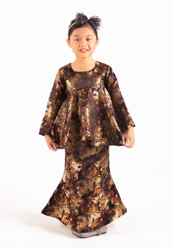 FATIMÉ black and gold and brown Tatakids Princess Brocade Aminah (Black) 69666KA283EFD8GS_1