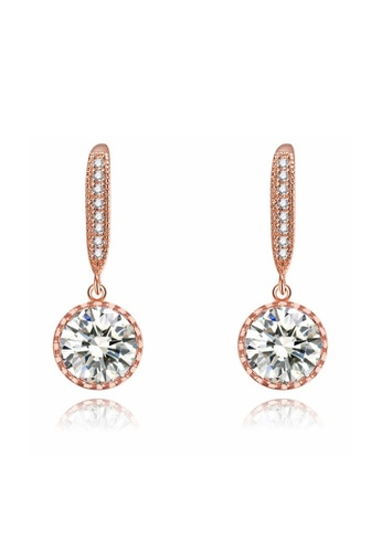 Kings Collection gold Austrian Crystal Rose Gold Lady Earrings 56610AC1F2A0B1GS_1