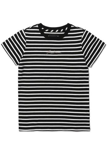 MUSIUM DIV white Logo embroidered stripe tee 38894AA27313F7GS_1