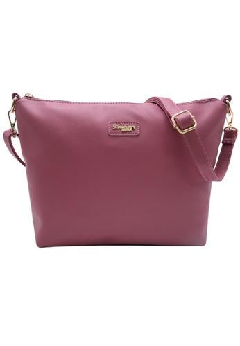 STRAWBERRY QUEEN pink Strawberry Queen Flamingo Sling Bag (Saffiano Leather AZ, Pink) CBEA7AC773E925GS_1