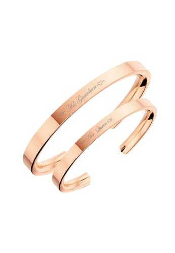 "CELOVIS gold Celovis Valentine Collection ""His Angel"" & ""Her Guardian"" Couple Bangle Set 65AA1AC12AC738GS_1"