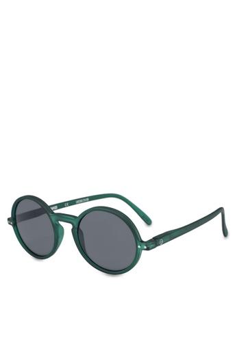 Izipizi 綠色 啞光鏡框中性太陽眼鏡 E0B24GL30ECE86GS_1