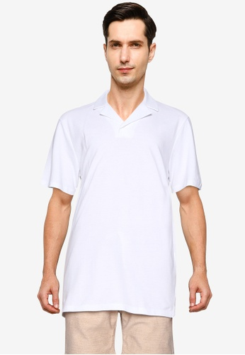 LC Waikiki white Slim Fit Short Sleeve Pique Polo Shirt CAD66AA9269520GS_1