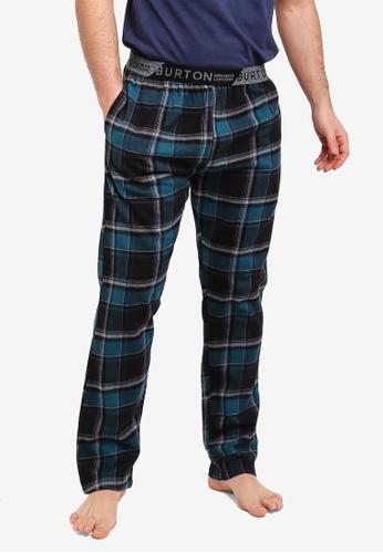 Burton Menswear London 綠色 格紋印花休閒褲 8D9A2AA44DD807GS_1