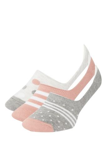 DeFacto 多色 3-pack Low Cut Socks 9072CAA2949A81GS_1