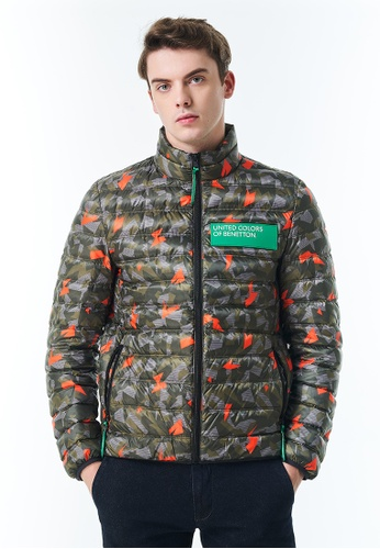 United Colors of Benetton green Allover Printed Padded Down Jacket 72035AAB557AEEGS_1