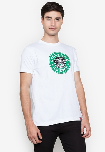 Spoofs white Starbuko T-Shirt 98C43AA8A4A94AGS_1