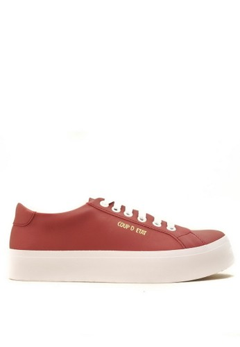 CDE red CDE Ceremonial Men Sneaker Maroon 43D3ASH0E72FF2GS_1