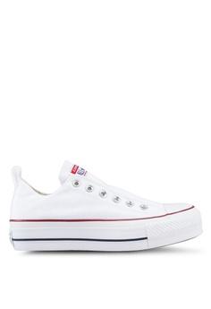 b483b7420f32 Converse white Chuck Taylor All Star Lift True Faves Ox Sneakers  39C44SHB00B0DEGS 1