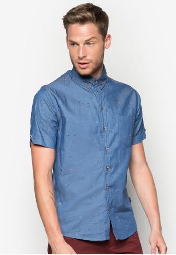 Dolan 點點印花丹寧襯衫,esprit hk store 服飾, 印花襯衫