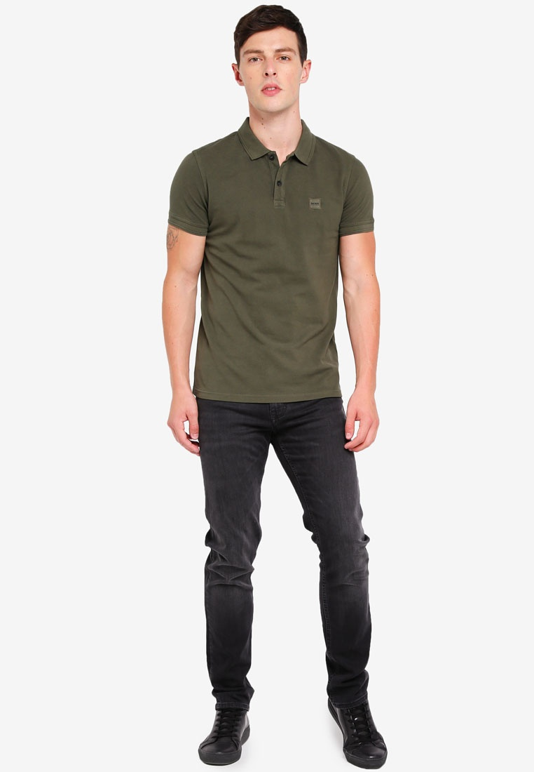 BOSS Shirt Dark Boss Polo Green Casual Prime BPw1q1
