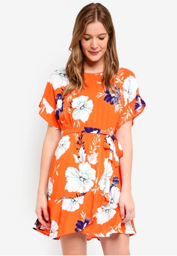 Cotton On orange Woven Bray Short Sleeve Wrap Dress F60EBAA88B75B7GS_1