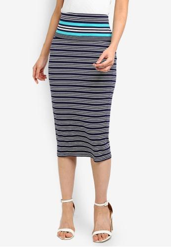 399a27e10 Shop Max Studio Knit Roll Waist Midi Skirt Online on ZALORA Philippines