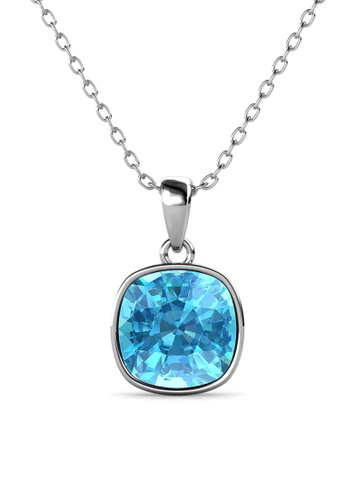 Her Jewellery blue Amethyst Pendant (Blue) - Made with premium grade crystals from Austria 05C87AC96239CFGS_1