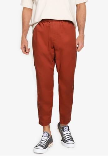 RAGEBLUE brown MEN WOVEN PANTS E6FF5AA7CD009CGS_1