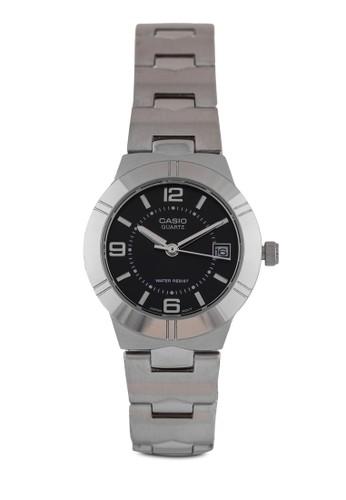 Casio LTP-1241esprit outlet hong kongD-1ADF 圓框日期細鍊錶, 錶類, 不銹鋼錶帶